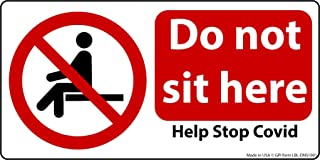 Do Not Sit Here Stickers.(500 Pack) for Desks, Chairs, Benches, Walls and Floors - Commercial Waterproof Laminated Vinyl w...