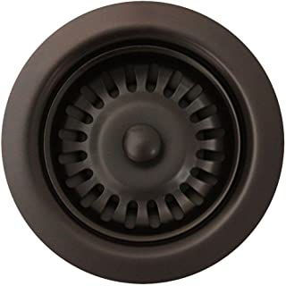 Whitehaus RNW35L-ORB 3-1/2-Inch Basket Strainer for Deep Fireclay Applications, Oil Rubbed Bronze