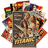 HK Studio Vintage Posters of Classic Movie, Self-Adhesive Vinyl Decal Indie Posters for Room Aesthetic 90s Wall Collage Kit, Retro Movie Poster for Dorm, Movie Room Decor, 7.8'x11.8' Pack 12