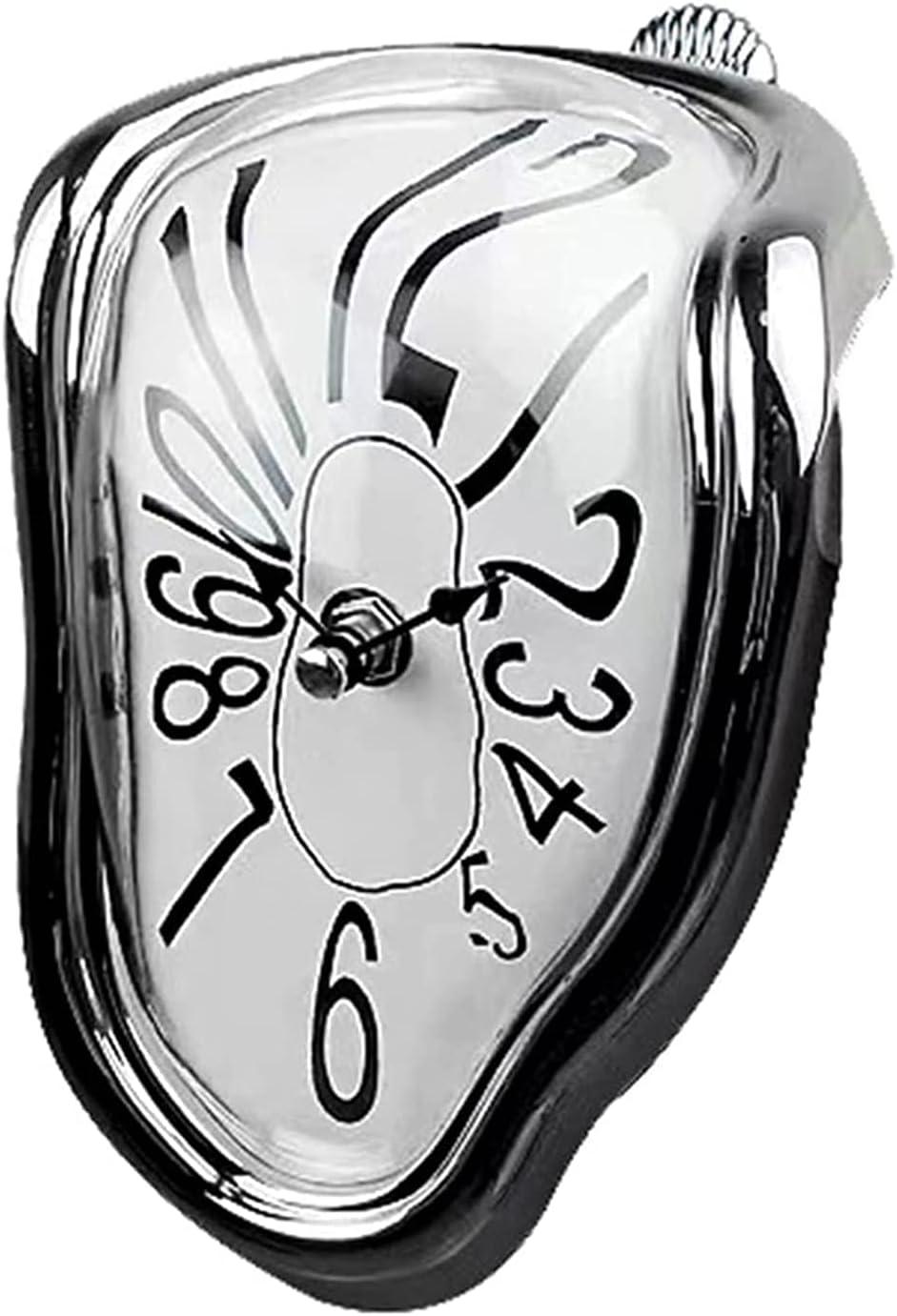 Angel&H Reloj de Fusión, Reloj Derretido de Salvador Dali, Relojes de Pared de Cuarzo con Números Arábigos, Decoración de Reloj de Pared Distorsionada de Estilo Surrealista