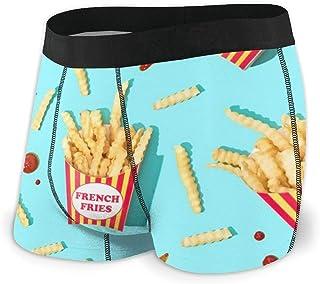 Boxer da Uomo,Ketchup French Fries Intimo Morbido con Marsupio Boxer Give-N-Go da Uomo L