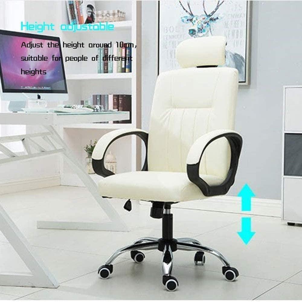 Chaise De Bureau Chaise À Dossier Haut Chaise Ergonomique Chaise De Jeu Réglable en Hauteur pour Salle De Réunion-Marron Marron