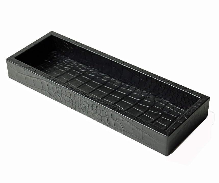 ポップ外交官簡略化するピネッティ フロリダペントレー ブラック クロコダイル調レザー
