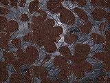 bestickt Burn Out Design Chiffon Kleid Cord Stoff schwarz &