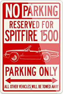 Legend Lines Triumph Spitfire MKIV 1500 Convertible 1970 – 1981 Reserved Parking Only Aluminum Sign - 8 by 12 inches (1, Small) - Great British Classic Car Gift
