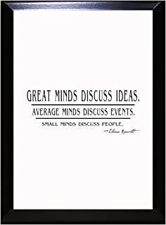 Great Minds Discuss Ideas. Average Minds Discuss Events Wall Plaque Sign 9 in x 12 in