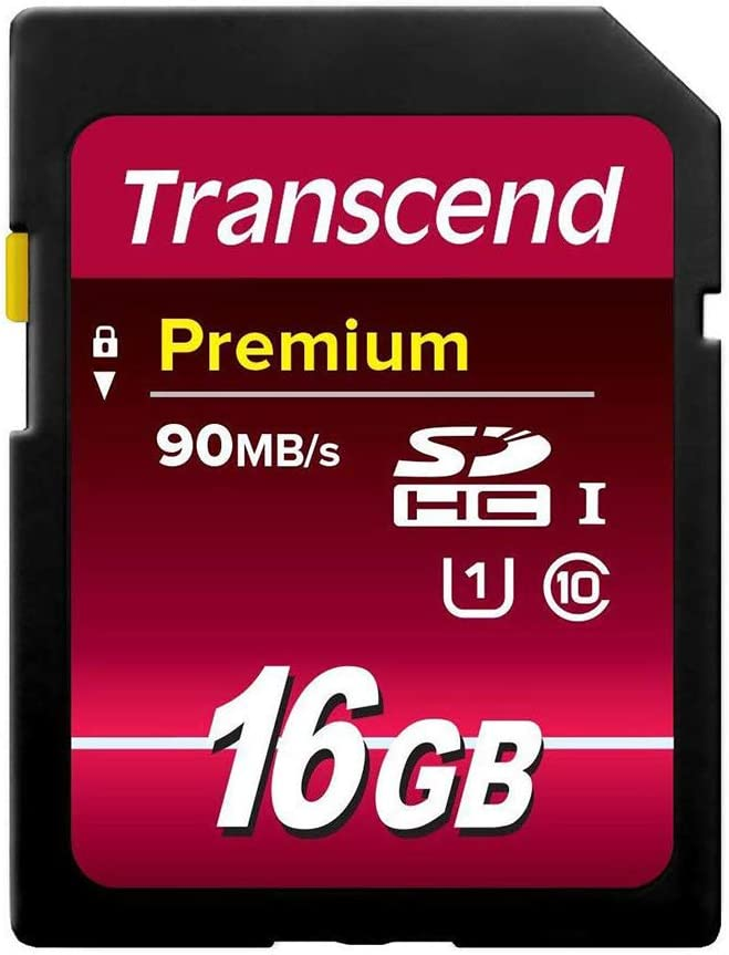 Pack of 5 Transcend 16GB SDHC Class10 400X UHS-I Memory Cards