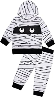 Baby Boys Girls My First Halloween Mummy Costumes Outfit Sets Infant Bodysuit with Hat