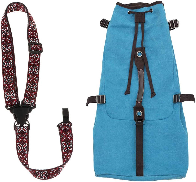 Prettyia 27 Inch Waterproof Durable Ukulele Cotton Case Bag for 21 23 26 Inch with Ukulele Neck Shoulder Belt Strap  Dark bluee