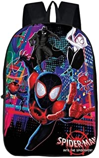 MDMMBB Junior Backpack for Kids 3D Spider-Man Parallel Universe Schoolbag Cartoon Backpack Student Backpack (Color : 9, Size : 42x16x29cm)