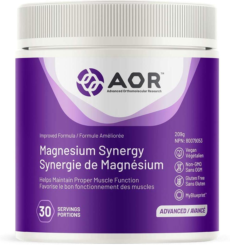AOR - Magnesium Synergy 209g Powder Superlatite Helps Maintain Award-winning store Proper Musc