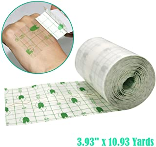 Transparent Stretch Adhesive Bandage,Fencia Tattoo Bandage Roll - Waterproof Transparent Adhesive Wound Dressing Fixer Plaster Stretch Fixation Tape Bandage (3.94