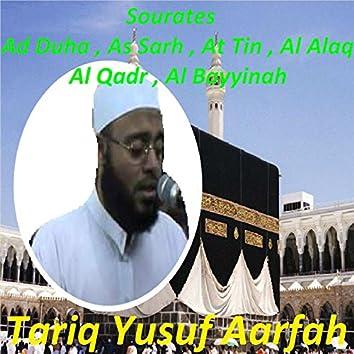 Sourates Ad Duha, As Sarh, At Tin, Al Alaq, Al Qadr, Al Bayyinah (Quran)