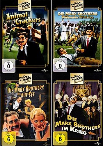 Die Marx Brothers | Blühender Blödsinn | Im Krieg | Animal Crackers | Auf See (4-DVD)