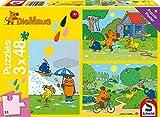 Schmidt Spiele 56213 Viel Spaß mit der Maus, 3x48 Teile Kinderpuzzle