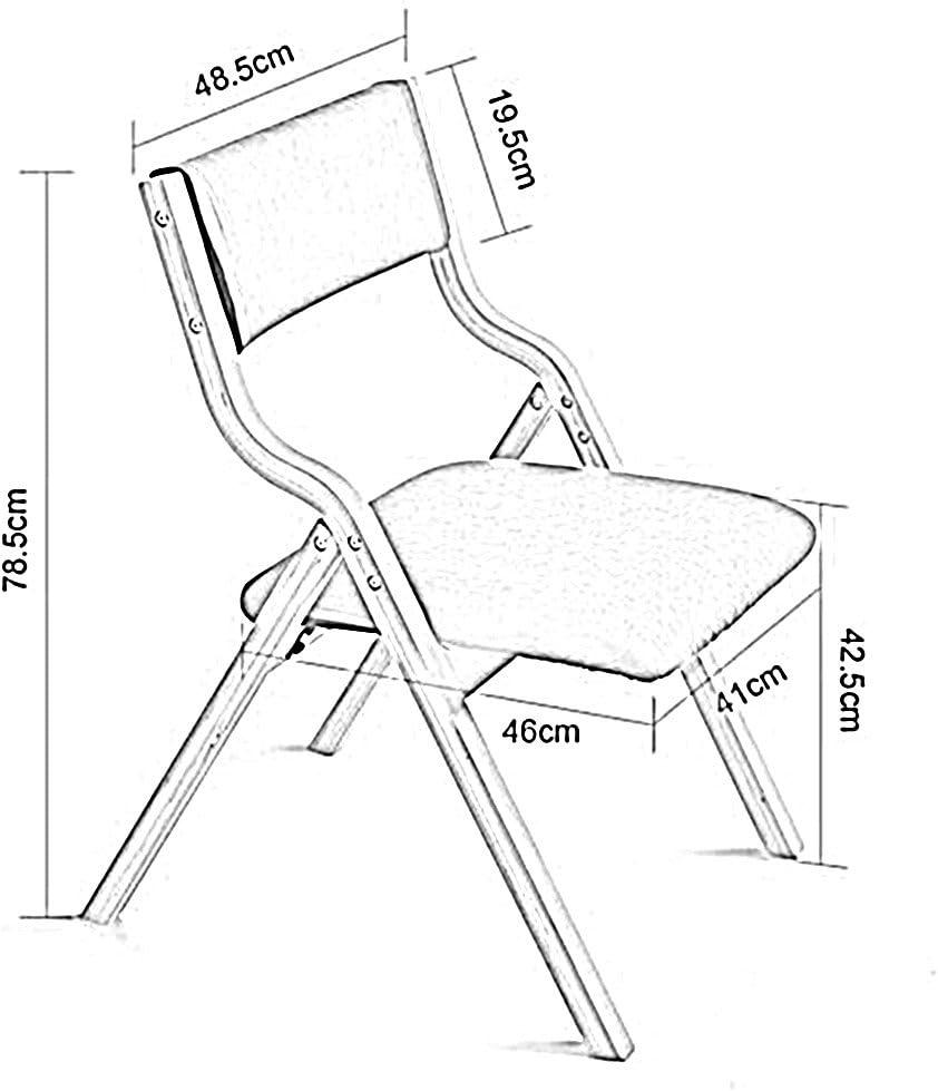 FEI Confortable Chaises pliantes en bois de Housewares - dans 18 genres de couleurs Solide et durable (Couleur : 4) 3