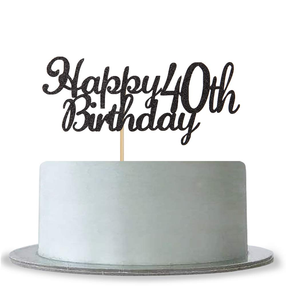 Hello 40 Cake Topper For 40th Birthday Or 40th Wedding//Anniversary Party Decorations