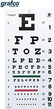 """نمودار چشم Grafco Snellen ، 1240 ، 22x11 """"، مواد پلاستیکی با مات غیر منعکس کننده مات و میله های رنگی سبز و قرمز"""