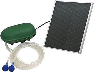 Sunnydaze Solar Pond Oxygenator Plus Air Pump Outdoor with Battery Pack, 52 GPH - for Aquarium or Fish Tank