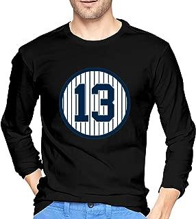EnocKings Men's Round Neck Alex-Rodriguez-Number #13 Adult Long Sleeve T-Shirts