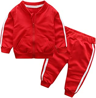 Unisex Tracksuit Baby Boys Girls Clothes Cotton Long Sleeve Zipper Sweatshirt Jacket and Pants