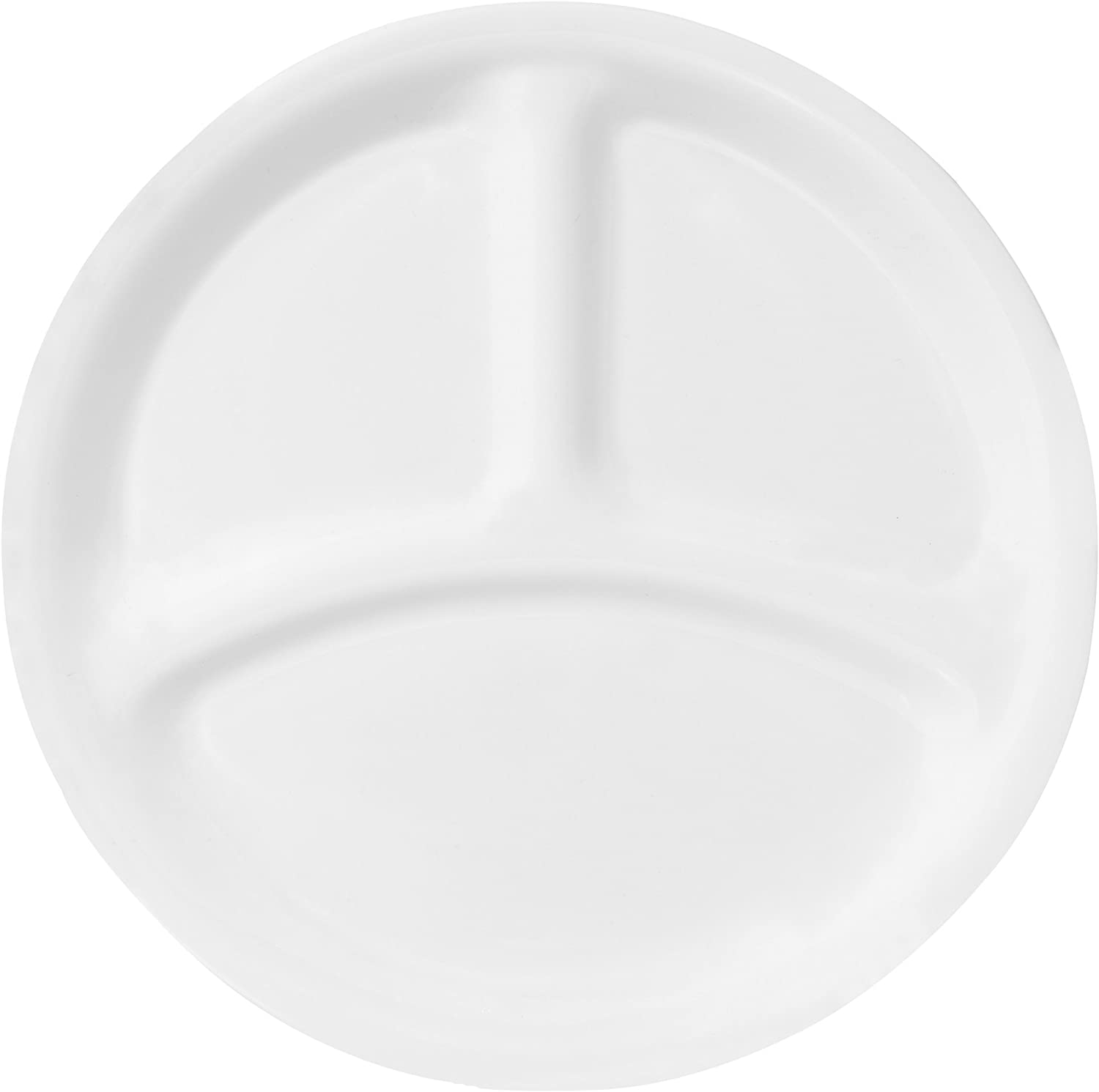   Corelle Livingware 8-1/2-Inch Divided Dish, Winter Frost White: Divided Serving Trays: Divided Trays & Platters