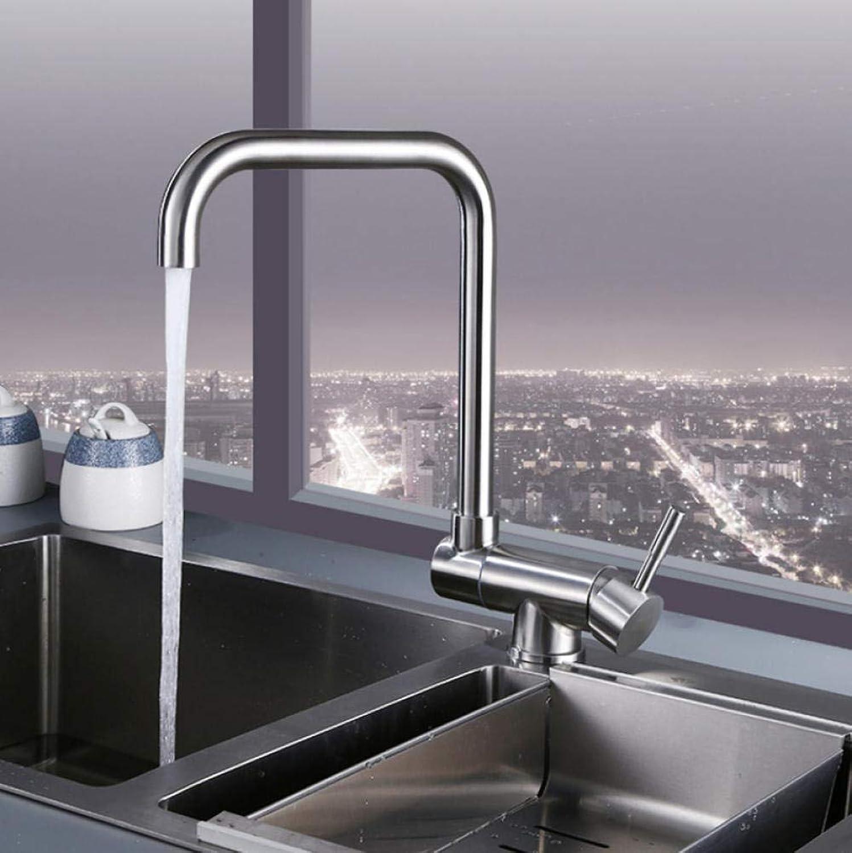 360 Rotation Klapp Küchenarmatur Edelstahl Bleifrei Waschbecken Wasserhahn Mischbatterie
