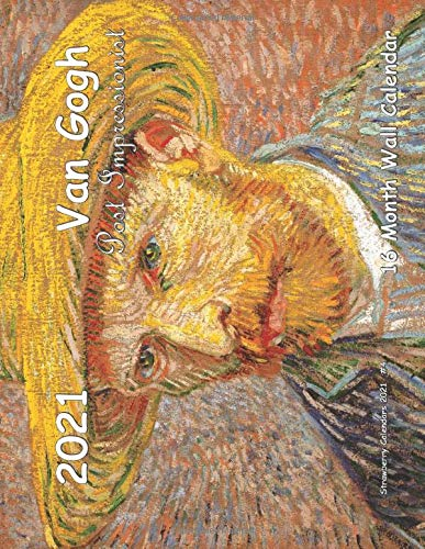 Van Gogh Post Impressionist 16 Month Wall Calendar 2021 (Strawberry Calendars 2021, Band 4)