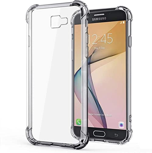 Mobilegenics Back Case Cover For Samsung Galaxy J7 Prime On7 2016 On Nxt On7 Prime Transparent Bumper Shockproof Crystal Clear TPU Soft Back Cover Case With Cushioned Edges