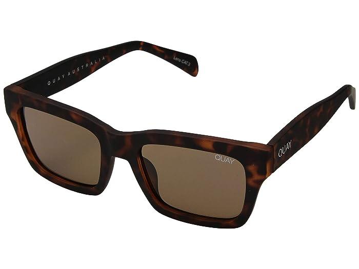 QUAY AUSTRALIA In Control (Matte Tortoise/Brown) Fashion Sunglasses