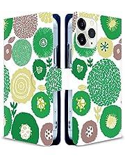 iitrust Galaxy A32 5G ケース 手帳型 ギャラクシーA32 5g ケース手帳型 SCG08手帳型ケース Galaxy a32ケース花柄 スマホケース 秘密の花 緑の誘惑 かわいい ファッション フラワー