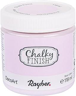 RAYHER HOBBY Chalky Finish, rosa polvo, bote 118ml