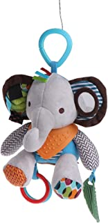 PRtoy Baby Rattle Bell,Pacify Dolls Infant Crib Stroller Hanging Animals Toy (Elephant)