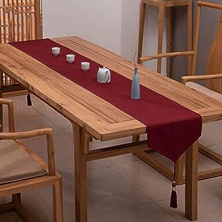 Chemin de table Runners de table à manger classiques élégants, linge de table non glissante pour dîner de fêtes, coureur d...