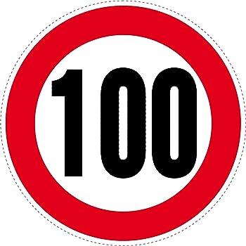velocit/à: 80 km//h 2/adesivi con limite di velocit/à inscritto in un cerchio rosso 125/mm