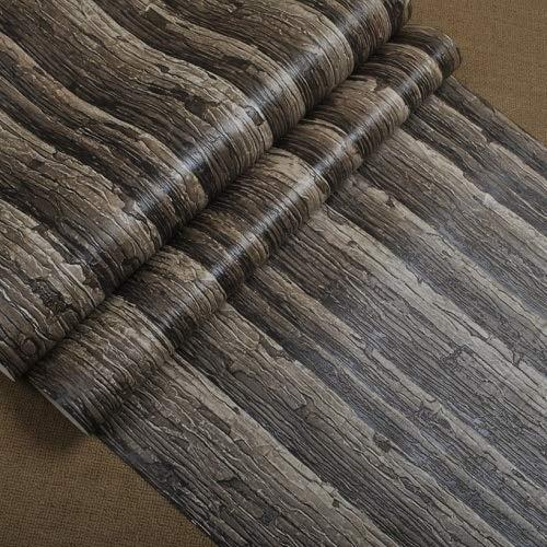 Vintage Wallpapers Koffie Shop Restaurant Vinyl Logs Muurpapier 3D Achtergrond Muur Woonkamer Rustieke Faux Hout Behang (10mx53cm)