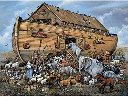 JDFKK Puzzle 1000 Pieces Wooden Noah S Ark Puzzle Adult And Teenager Decompression Educational Toys Art Collection