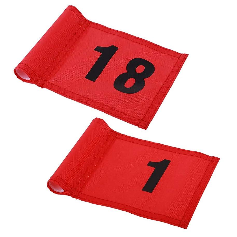 収束クマノミ前提Perfeclan 1号+18号 ゴルフ旗 ゴルフ練習 グリーンフラグ