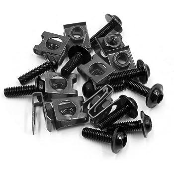 Uxcell a17061900ux1496 15Pcs M6 Aluminum Alloy Hex Socket Head Motorcycle Bolts Screws Nuts Orange 15 Pack