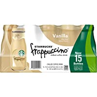 Starbucks Frappuccino 9.5 Fl. Oz Bottles Coffee Drink (Vanilla, 15 Count)