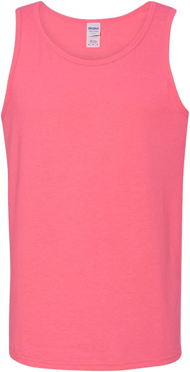 Heavy Cotton Tank Top (G520) Safety Pink, 3XL (Pack of 12)