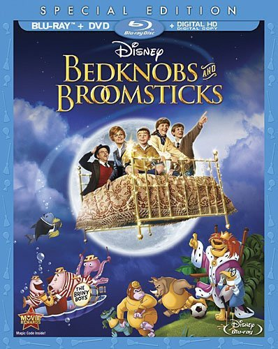 Bedknobs and Broomsticks [Blu-ray + DVD + Digital Copy] (Bilingual) [Importado]