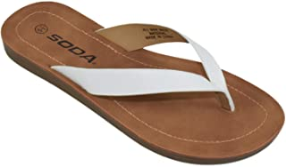 Soda Shoes Women Basic Gladiator Sandals Ankle Strap Open Toe White BIGBOSS-S
