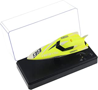 Tipmant Remote Control Boat 4CH 2.4G RC Speed Racing Boat Speedboat Ship Kids Summer Water Toy (No Antenna Required) (Yellow)