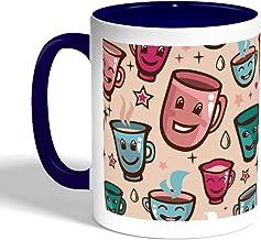 Printed Coffee Mug, Blue Color, Cups