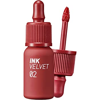 Peripera Ink the Velvet Lip Tint | High Pigment Color, Longwear, Weightless, Not Animal Tested, Gluten-Free, Paraben-Free | Celeb Deep Rose (#02), 0.14 fl oz