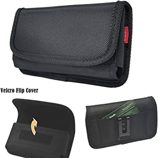 Sideways Heavy Duty Nylon Pouch Wallet Case Metal Belt Clip Holster Work for Galaxy A10e , J3 , J3V ,Express Prime 3 ,Amp Prime 3 ,J2 Core ,S10e ,Has Slim Protective Cover 5.9 X 3.5 X 0.6 Inch