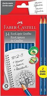 Lápis Preto Redondo Nº2B, Faber-Castell, EcoLápis, PM/1210AZ12+2, 14 Unidades