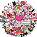 ZXXC 50 unids/Set Pegatinas de Maquillaje para niñas para Equipaje DIY, Pegatinas de Graffiti para Ordenador portátil, Vinly, calcomanías Impermeables para DIY