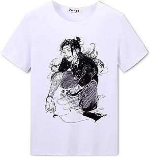Jujutsu Kaisen Camiseta de Anime Ryomen Sukuna Manga Corta Top Itadori Yuji Moda Camiseta Gojo Satoru Blusa de Cuello Redondo